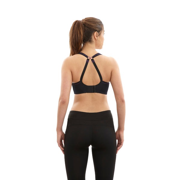 Panache-Black-Sports-Bra-Non-Wired-Racerback-7341-Back