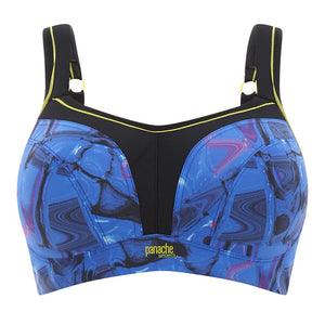 Panache-Cyber-Print-Blue-Sports-Bra-Wired-5021-Front-Zoom