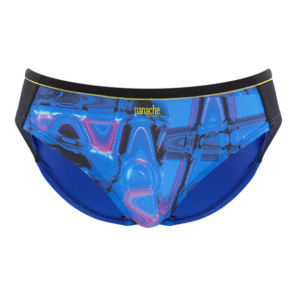 Panache-Cyber-Print-Blue-Sports-Brief-7342-Front