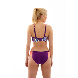 Panache-Kaleidoscope-Purple-Coral-Print-Sports-Bra-Wired-5021-Brief-7342-Back
