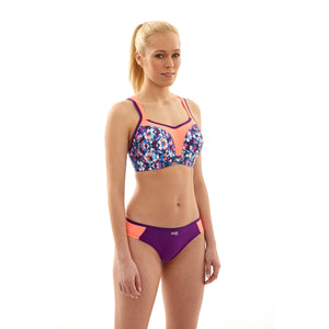 Panache-Kaleidoscope-Purple-Coral-Print-Sports-Bra-Wired-5021-Brief-7342-Front