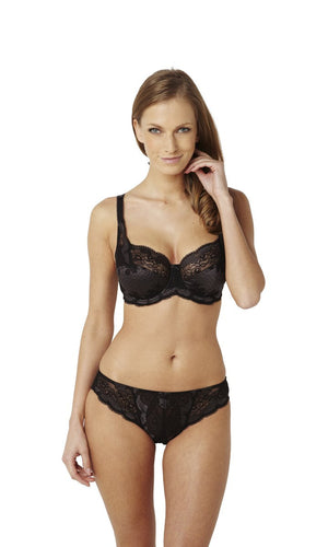 Panache-Lingerie-Clara-Charcoal-Black-Full-Cup-Bra-7255-Brief-7252-Front