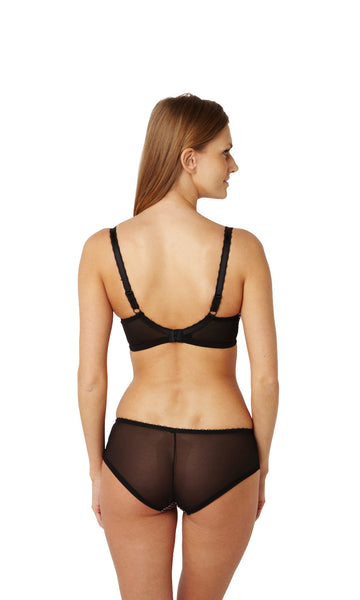 Panache-Lingerie-Jasmine-Balconette-Bra-Black-Pink-6951-Brief-6952-Back