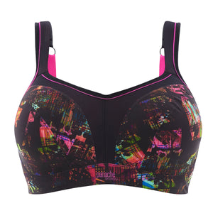 Panache-Neon-Pixel-Black-Print-Sports-Bra-Wired-5021-Front