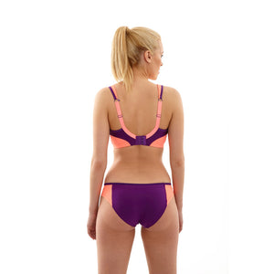 Panache-Purple-Coral-Sports-Bra-Non-Wired-7341-Brief-7342-Back