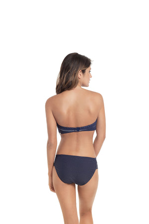 Panache-Swim-Britt-Bandeau-Bikini-Top-Navy-SW0823-Gathered-Bikini-Brief-SW0829-Back