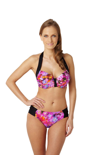 Panache-Swim-Savannah-Floral-Balcony-Bikini-Top-SW0782-Gathered-Brief-SW0789-Front