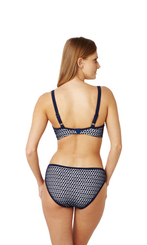 Panache-Swimwear-Eadie-Navy-White-Balconette-Bikini-Top-SW0862-Classic-Brief-SW0866-Back