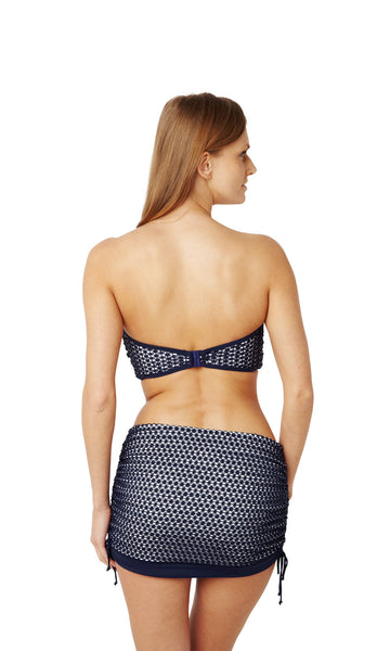 Panache-Swimwear-Eadie-Navy-White-Bandeau-Bikini-Top-SW0863-Skirted-Swim-Brief-SW0868-Back
