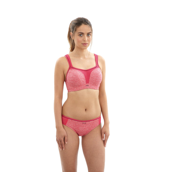 Panache-Underwired-Sports-Bra-Pink-Marl-5021-Brief-7342-Front