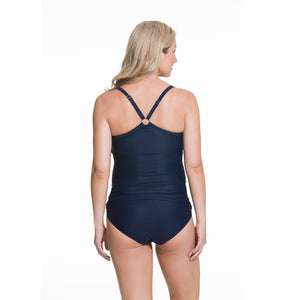 Rosewater-Cake-Frappe-Navy-Blue-Maternity-Tankini-Swimsuit-40505525-Back