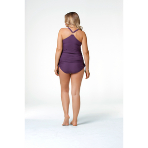 Rosewater-Cake-Shake-Purple-Maternity-Nursing-Tankini-Swimsuit-Set-Back