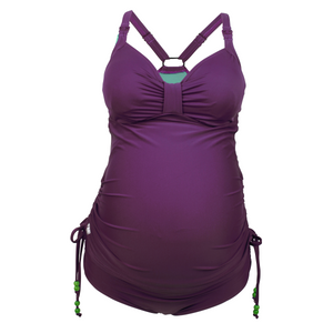 Rosewater-Cake-Shake-Purple-Maternity-Nursing-Tankini-Swimsuit-Set-Zoom-Front