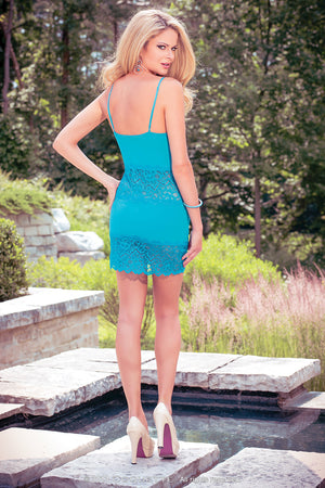 Coquette Lingerie Teal Babydoll CQS4008 - Back