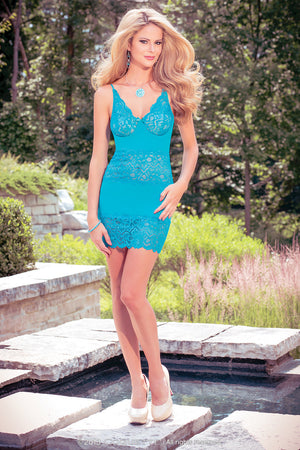 Coquette Lingerie Teal Babydoll CQS4008 - Front