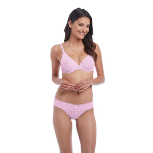 Halo Lace Sweet Pink Non Padded Moulded Bra - Wacoal