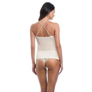 Wacoal-Lingerie-Lace-Essential-Cream-Powder-Camisole-Racerback-WE136009CRR-Short-WE136006CRR-Back