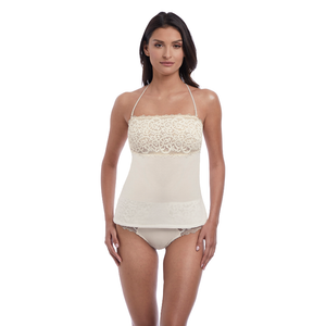 Wacoal-Lingerie-Lace-Essential-Cream-Powder-Camisole-Racerback-WE136009CRR-Short-WE136006CRR-Front