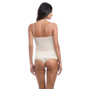 Wacoal-Lingerie-Lace-Essential-Cream-Powder-Camisole-Straps-WE136009CRR-Short-WE136006CRR-Back