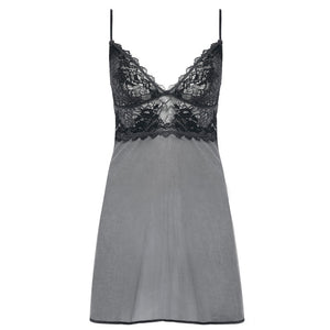 Wacoal-Lingerie-Lace-Perfection-Charcoal-Grey-Chemise-WE135009CHL