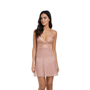 Wacoal-Lingerie-Lace-Perfection-Rose-Mist-Pink-Chemise-WE135009RMT-Front