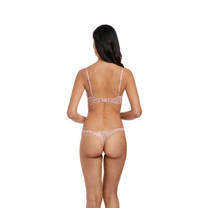 Wacoal-Lingerie-Lace-Perfection-Rose-Mist-Pink-Push-Up-Bra-WE135003RMT-Tanga-Brief-WE135007RMT-Back