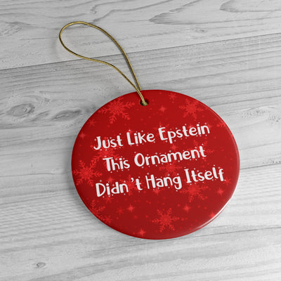 Just Like Epstein Ceramic Christmeme Ornaments Red