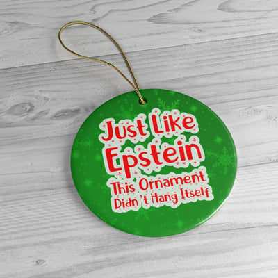 Just Like Epstein Ceramic Christmeme Ornaments Green