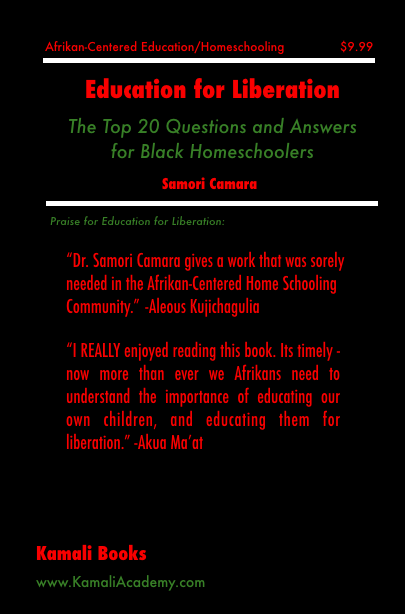 Education for Liberation: The Top 20 Questions and Answers for Black Homeschoolers  (pdf)