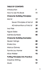 Character Building for African Centered Scholars: Grades 4 and up (pdf)