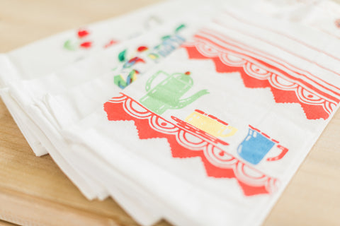 Vintage Style Tablecloths and Flour Sack Towels