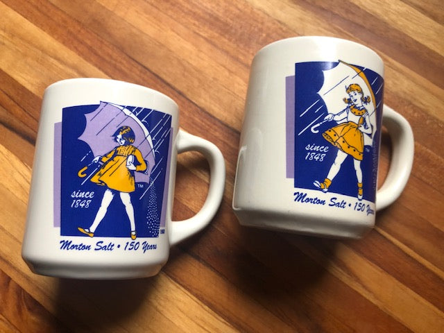 Vintage Morton Salt Diner Mug Set of 2