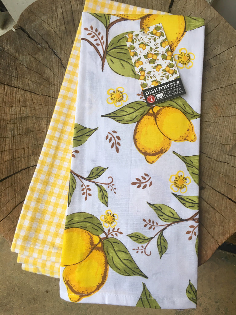 Lemon Tea Towel Set of 2