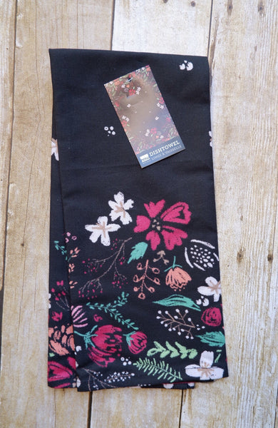 Night Bloom Hand Towels