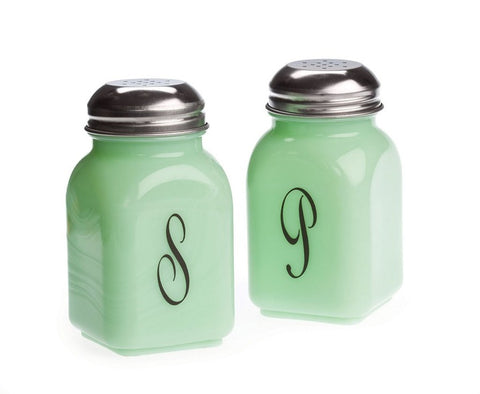 Jadeite Stovetop Salt and Pepper
