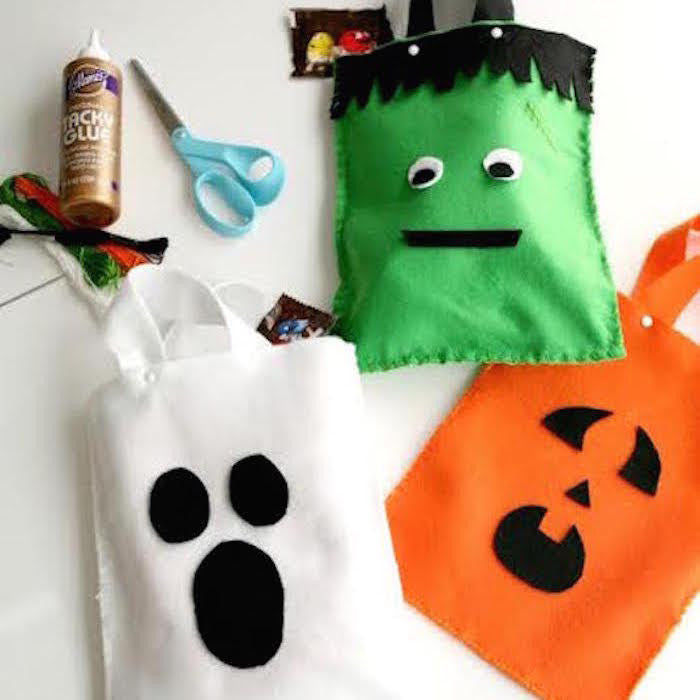 Diy Halloween Trick Or Treat Bags.Halloween Trick Or Treat Bags Craft Box Girls