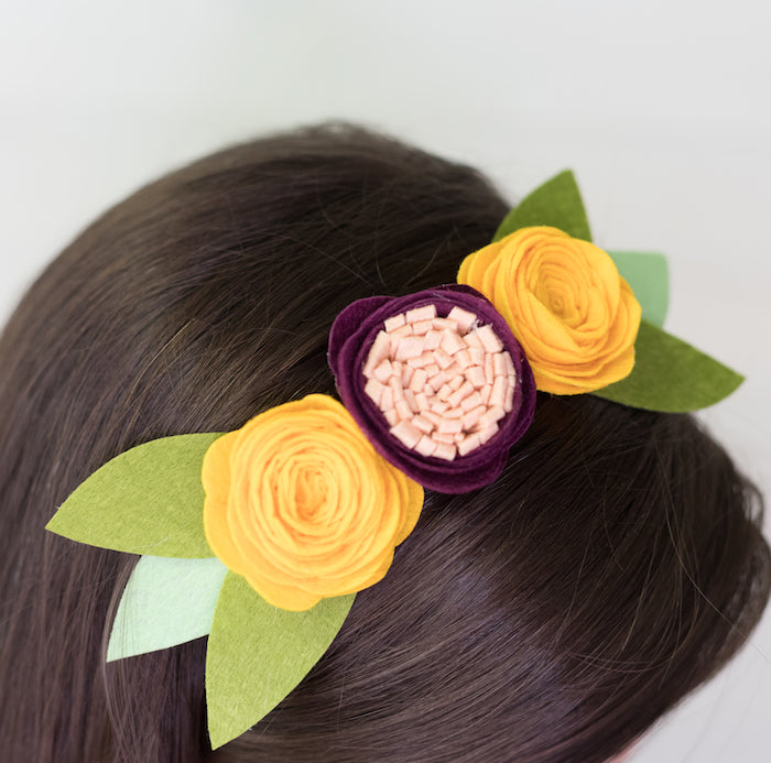 Diy Felt Flower Headband Craft Box Girls