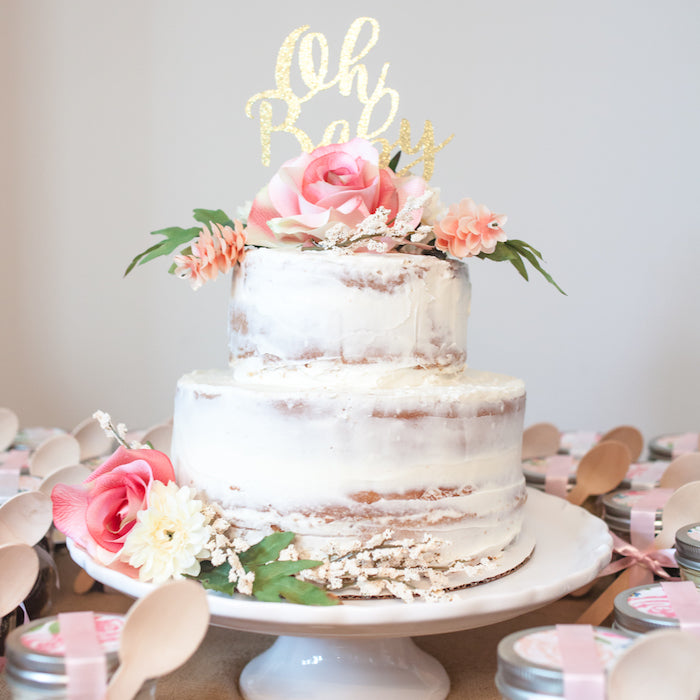 Images Of Naked Cake With Fresh Flowers