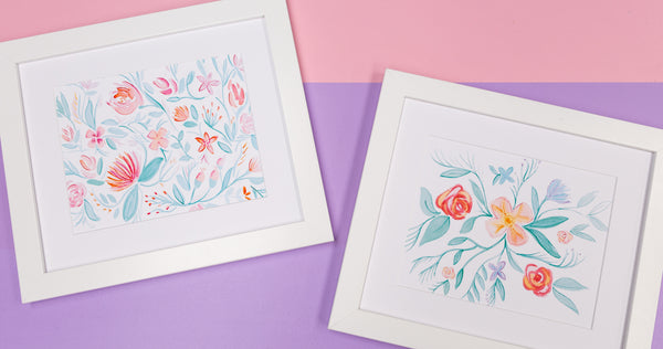 Watercolor Floral Artwork Digital Prints