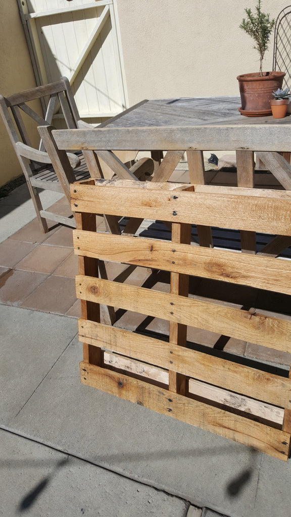 garden pallet clear poly
