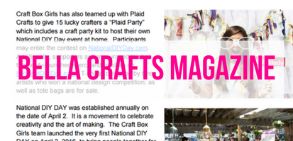 Bella Crafts Magazine, National DIY Day
