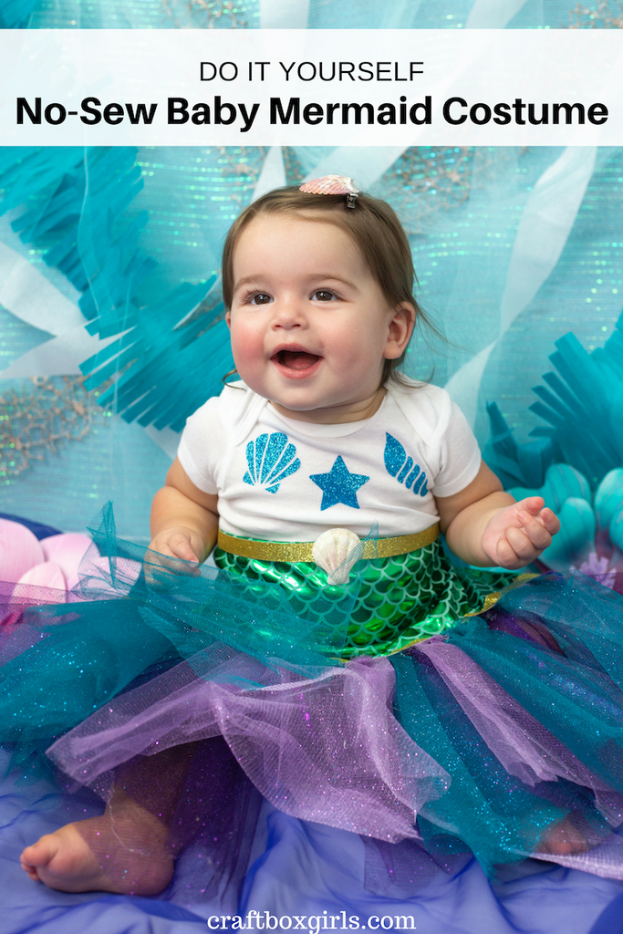 DIY No Sew Baby Mermaid Costume