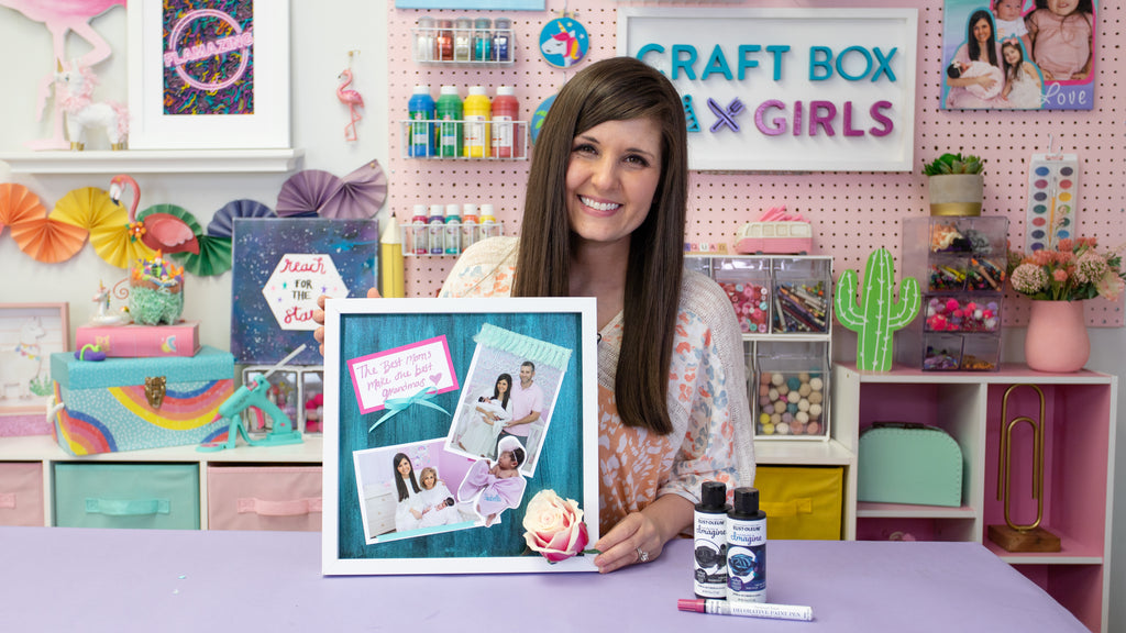 Color Shift 3D Mother's Day Photo Shadow Box
