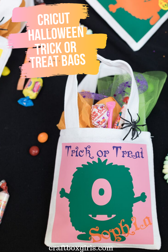 Cricut Halloween Trick or Treat Monster Bags