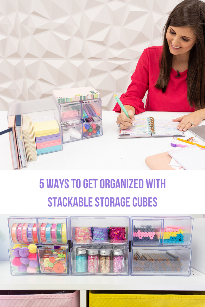 Deflecto Stackable Storage Cubes