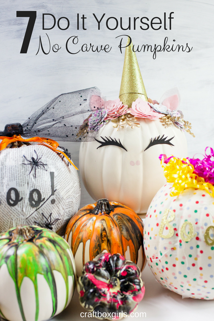 7 DIY No Carve Pumpkins