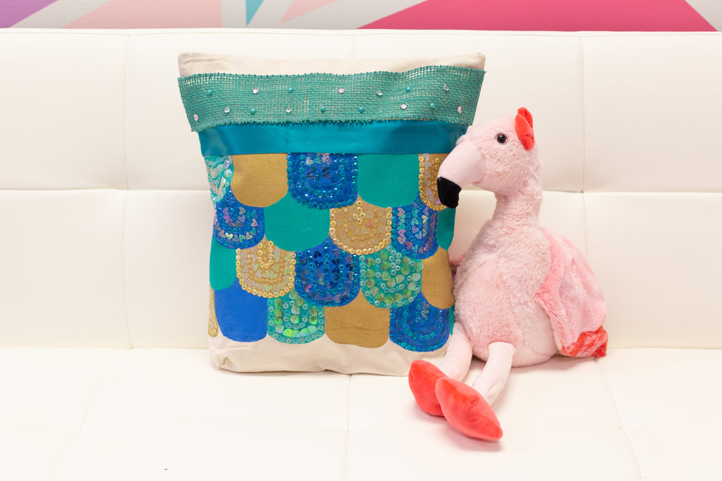 DIY No Sew Mermaid Pillow