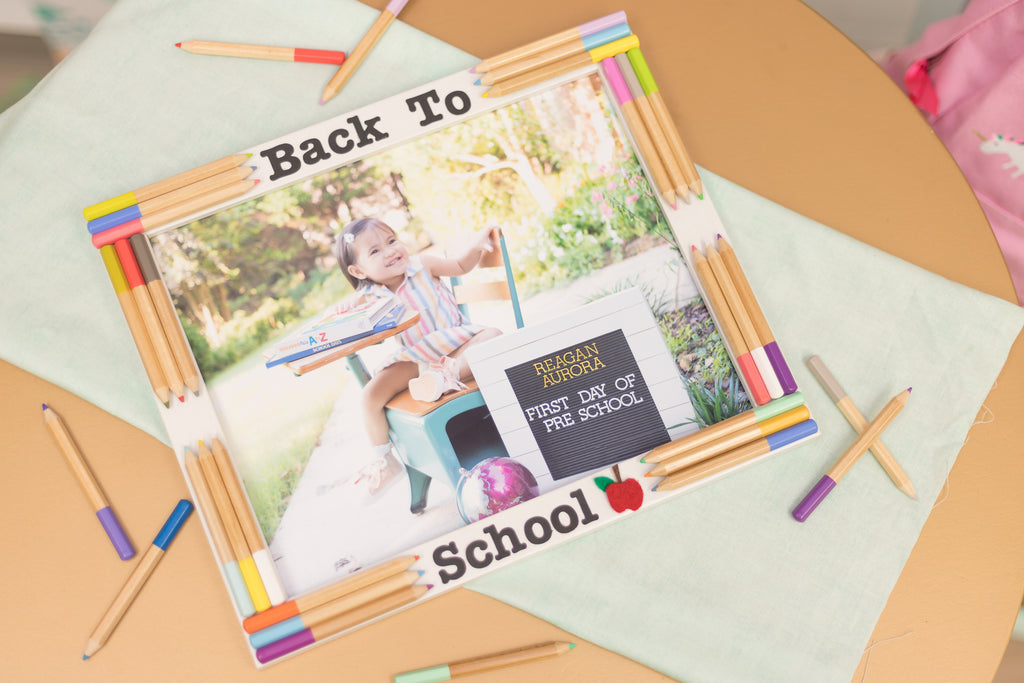 DIY Back to School Frame