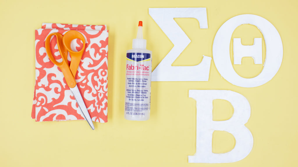 DIY Greek Letter Decorating