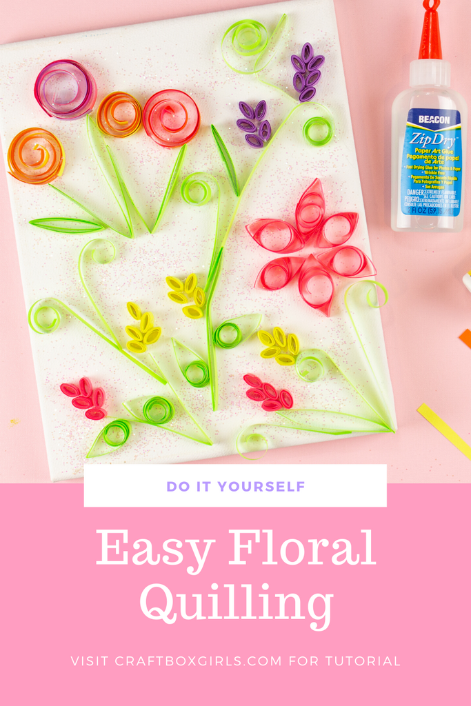Easy Floral Quilling with a Paper Straw